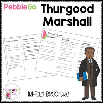Thurgood Marshall PebbleGo research brochure