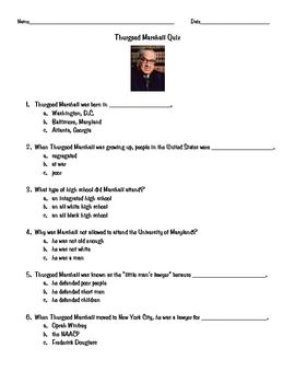 Thurgood Marshall Quiz