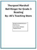 Thurgood Marshall Reading Bell Ringer- 3rd grade VA SOLS