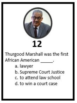 Thurgood Marshall Scoot Game