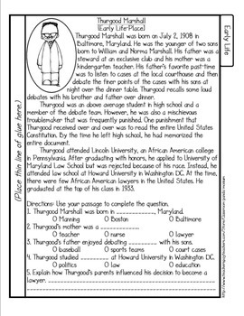 Thurgood Marshall Tab Booklet