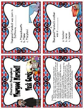 Thurgood Marshall Task Cards