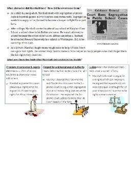 Thurgood Marshall Test & Study Guide COMBO!