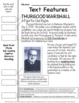 Thurgood Marshall Text Features Pages