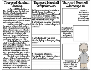 Thurgood Marshall Tri-Fold