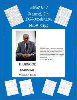 Thurgood Marshall Vocabulary Bundle