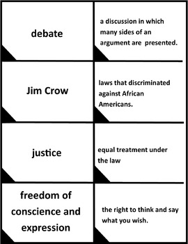Thurgood Marshall Vocabulary Match
