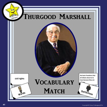 Thurgood Marshall Vocabulary Match