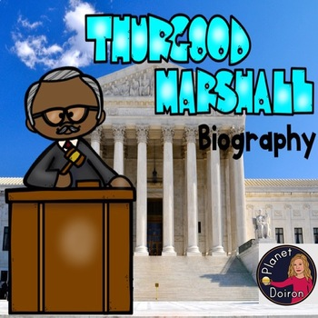 Thurgood Marshall biography black history month famous Americans civil rights
