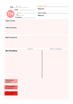 Thursday English Weekly Lesson Plan Template