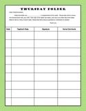 Thursday Folder Signature Page