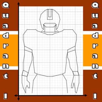 Thursday Morning Quarterback - A Quadrant I Coordinate Graphing Activity