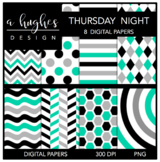 12x12 Digital Paper Set: Thursday Night {A Hughes Design}