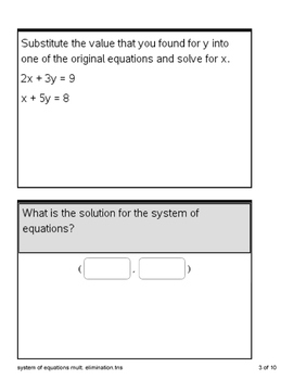 Ti-Nspire cx System of Equations w/ addition & multiplication