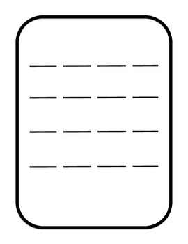 Blank 16-beat Printable