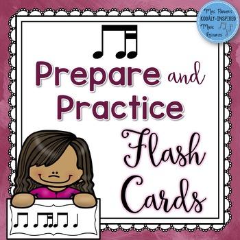Ti-Tika Prepare and Practice Rhythm Flash Cards