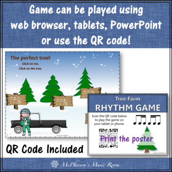 1 Eighth/2 Sixteenths, 2 Sixteenths/1 Eighth Interactive Rhythm Game {Tree Farm}