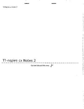 Ti-nspire cx Notes Flipbook Part 2