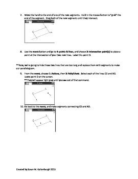 TiNspire: Properties of Parallelograms