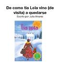 Tía Lola Literature Guide Packet-Spanish (Español)