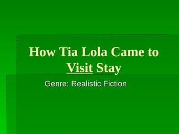 Tia Lola Vocabulary Power Point Reading Street 2011