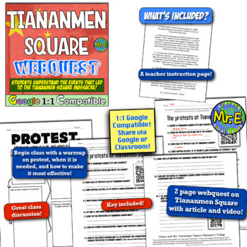Tiananmen Square Massacre Webquest! Cold War Webquest in Communist China!