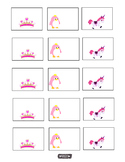 Tiara, Unicorn, Pink Penguin Name tags, Labels, Charts, &