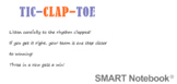 Tic-Clap-Toe, A Rhythm Listening Game for Elementary Music