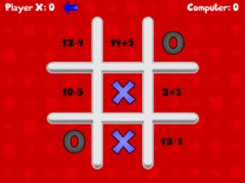 Tic Math Toe - Math Basic Facts (Playable at RoomRecess.com)