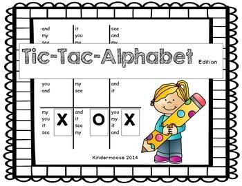 Tic Tac Alphabet