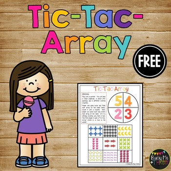 Tic-Tac-Arrays, Game for Second Grade, Math Centers, Multi