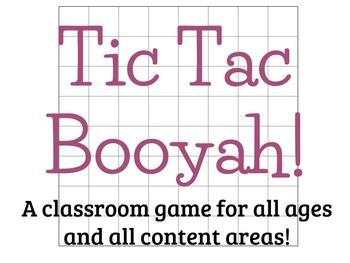 Tic Tac Booyah Gameboard