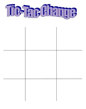 Tic Tac Toe-Making Change