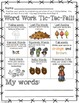 Tic-Tac-FALL! Word Work Choice Boards (fall theme)