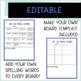 Tic Tac Know Bundle  [8 weeks of  Word Work or Spelling Ho