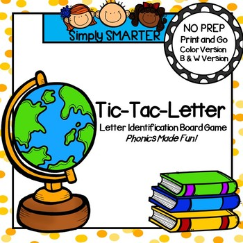 Tic-Tac-Letter:  Back To School NO PREP Game