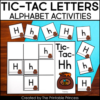 graphic regarding Letter Recognition Games Printable called Tic-Tac-Letters: Letter Level of popularity Online games