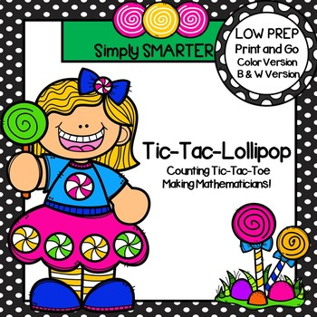 Tic-Tac-Lollipop:  NO PREP Counting Tic-Tac-Toe Game (1-20)