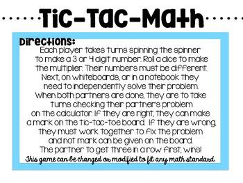 Tic-Tac-Math