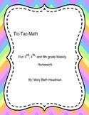 Tic-Tac-Math Boards