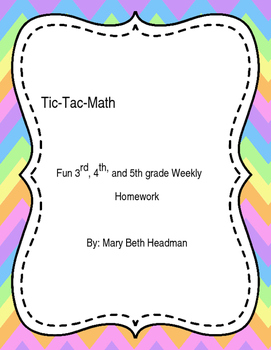 Tic-Tac-Math Boards