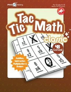 Tic Tac Math CLASSIC Games (Addition, Subtraction, Multiplication and Division)