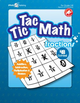 Tic Tac Math FRACTION Games (Addition, Subtraction, Multiplication and Division)