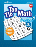 Tic Tac Math FRACTION Games (Addition, Subtraction, Multip