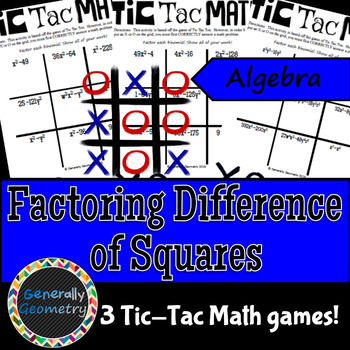 Factoring By Difference Of Squares Teaching Resources Teachers Pay