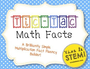 {FREEBIE} Tic-Tac Math Facts: A No-Prep Multiplication Fact Fluency Builder