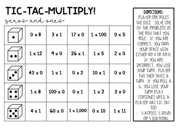 Tic-Tac-Multiply!