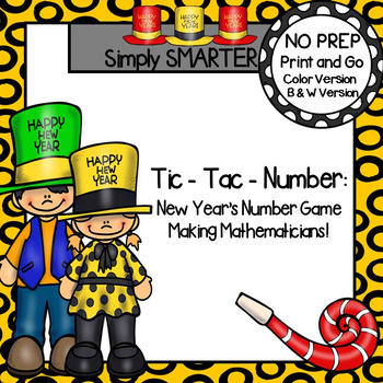 Tic-Tac-Number:  NO PREP New Year's Eve Number Identification Game