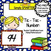 Tic-Tac-Number:  NO PREP Number Identification Game (1-100)