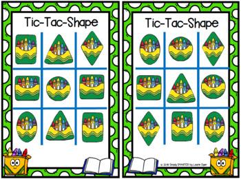Tic-Tac-Shape:  Back to School NO PREP Game